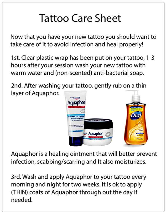 Tattoo aftercare tegaderm not your average gary for Tattoo care aquaphor